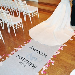 Flourish Design Personalized Aisle Runner (17 Colors) image