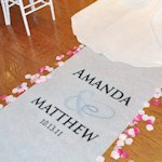 Flourish Design Personalized Aisle Runner (17 Colors)