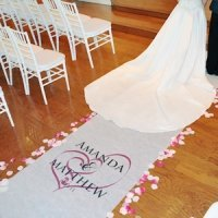 Embracing Hearts Personalized Aisle Runners (17 Colors)