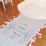 Timeless Design Personalized Aisle Runner (17 Colors)