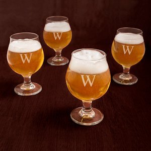 Personalized Belgian Beer Glasses (Set of 4) image