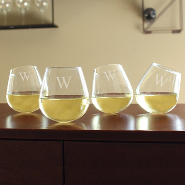 Tipsy Wine Glasses Set Of 4
