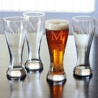 Personalized Pilsner Glasses (Set of 4)