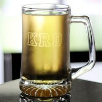 Personalized XXL Clear Glass Sports Mug