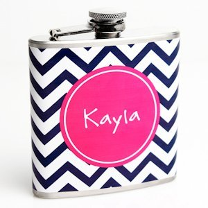 Chevron Custom Flask for Women image