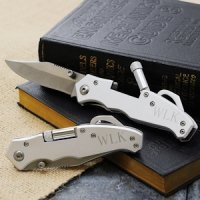 Engraved Pocket Knife with Light