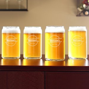 Home Brew Can Glasses (Set of 4) image