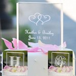Personalized Acrylic Wedding Cake Topper - Square