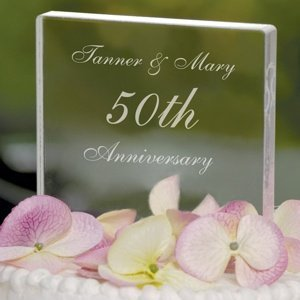 Personalized Acrylic Celebration Cake Topper image