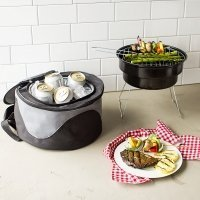 Personalized Cooler with Portable Grill