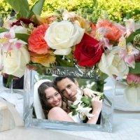 Reception Personalized Glass Photo Vase
