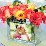 Personalized Rectangular Glass Photo Vase