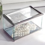 Personalized Beveled Glass Jewelry Box Bridesmaid Gift