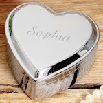 Engraved Heart Shaped Keepsake Box