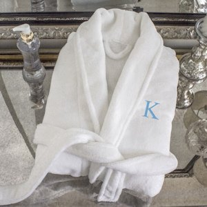 Personalized White Plush Robe image