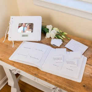 Sweet Memories Personalized Wedding Wishes Guest Book image