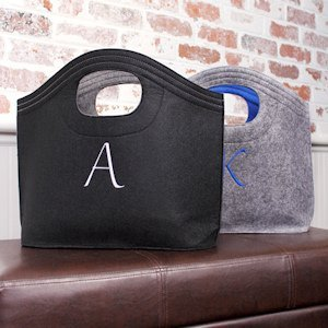 Personalized Felt Carry All Totes (2 Colors) image