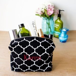 Personalized Moroccan Lattice Cosmetic Bag (5 Colors) image
