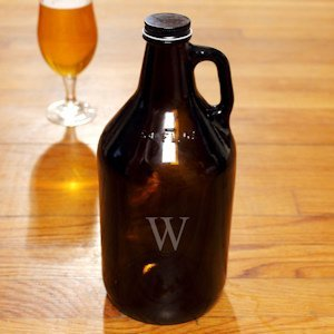 Personalized Amber Growler image