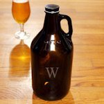 Personalized Amber Growler
