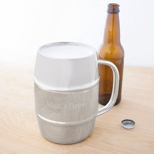 Personalized 33 oz XL Beer Keg Mug image
