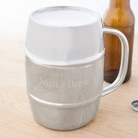 Personalized 33 oz XL Beer Keg Mug