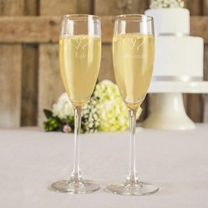 Engraved Toasting Flutes Set image
