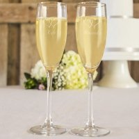 Engraved Toasting Flutes Set
