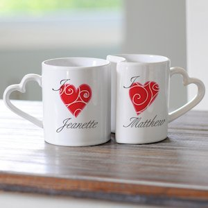 Personalized Heart Mug Set image