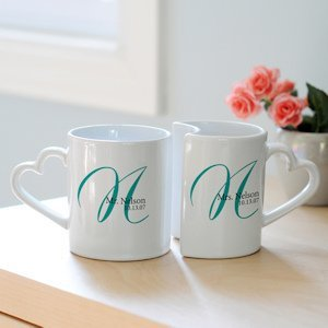 Personalized Initial Wedding Mug Set image