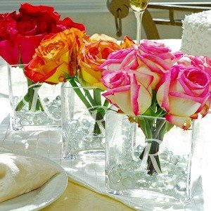 Engraved Glass Vase Centerpiece image