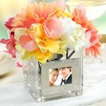 Personalized Square Glass Photo Vase