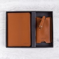 Personalized Passport Holder & Luggage Tag Set