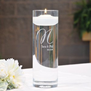 Personalized Glass Vase & Floating Unity Candle image