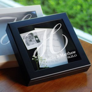 Wedding Wishes Keepsake Shadow Box (Black or White) image
