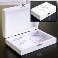 Wooden Personalized Jewelry Box for Bridesmaids