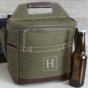 Craft Beer Bottle Personalized Coolers for Men (2 Colors) image