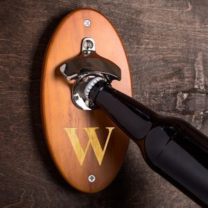 Custom Wall Mounted Bottle Opener (2 Colors) image