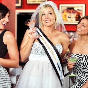 Bridal Entourage Bachelorette Sash & Veil Set (17 Colors) image
