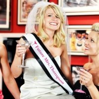 Cosmopolitan Custom Bachelorette Sash & Veil Set (17 Colors)