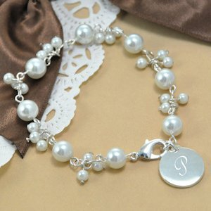 Personalized Romantic Pearl Bracelet image