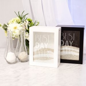 Personalized Best Day Ever Sand Ceremony Shadow Box Set image
