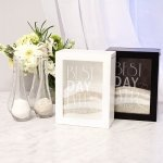 Personalized Best Day Ever Sand Ceremony Shadow Box Set