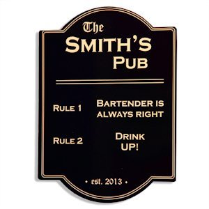 Pub Rules Bar Sign image
