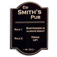 Pub Rules Bar Sign