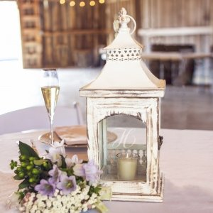 Personalized Rustic Centerpiece Lantern image
