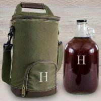 Personalized Insulated Growler Cooler w/ Clear Growler