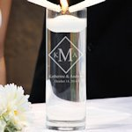 Diamond Monogram Floating Unity Candle