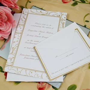 Gold Swirl Invitation Kit image