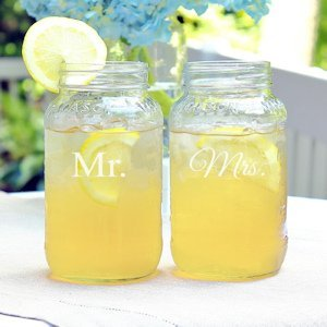 Mr. & Mrs. Ball Jar Set image